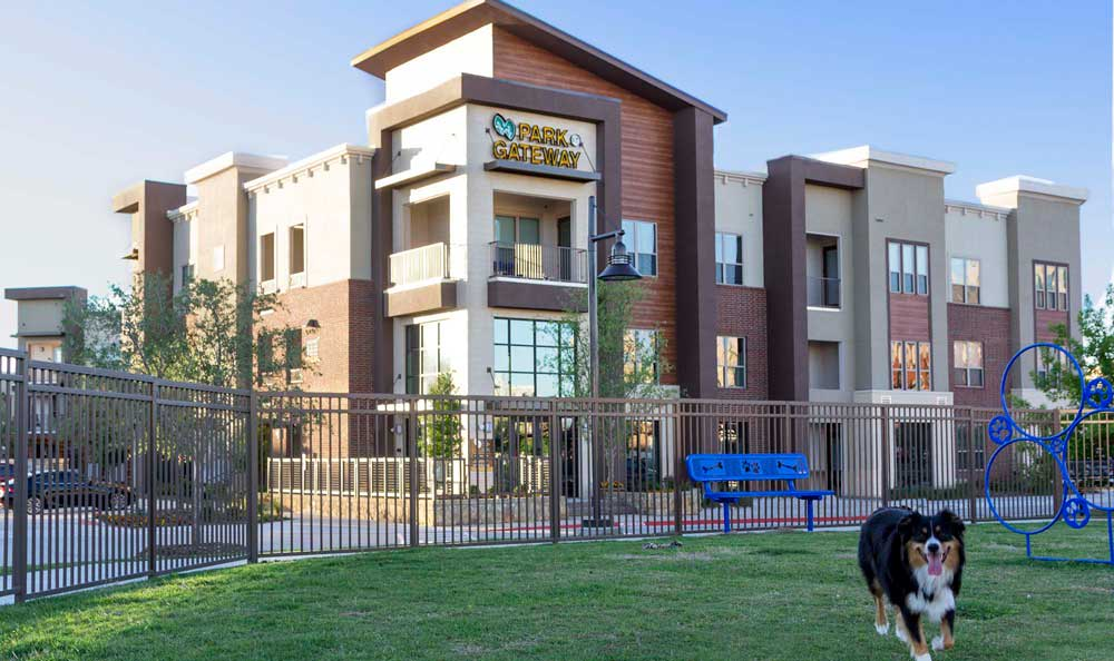 Exterior of the apartments at Park at Gateway