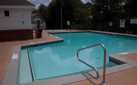 A view of the swimming pool at our Tucker apartments
