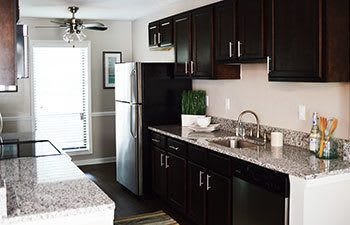 Modern kitchens at our Smyrna apartment homes