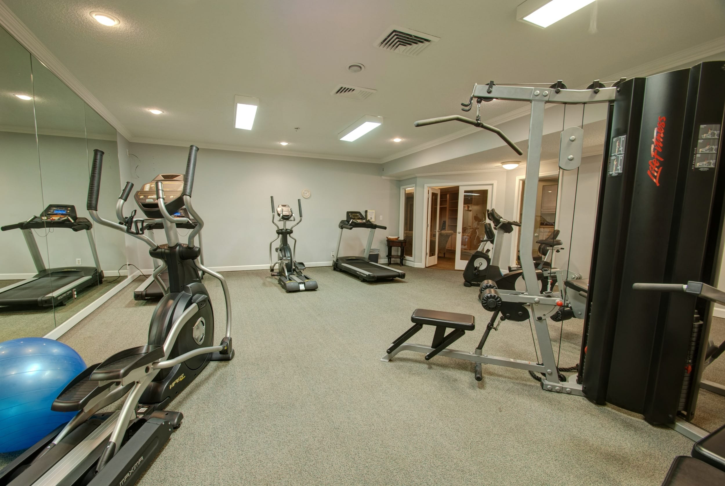 Fitness center at our apartments in Overland