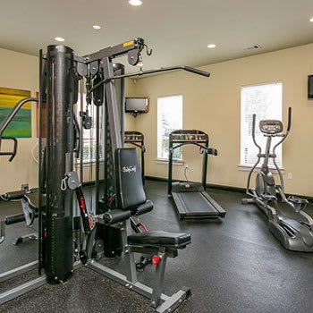 Fitness center at our Nashville apartments
