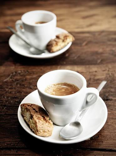 Ardmore coffee and biscotti