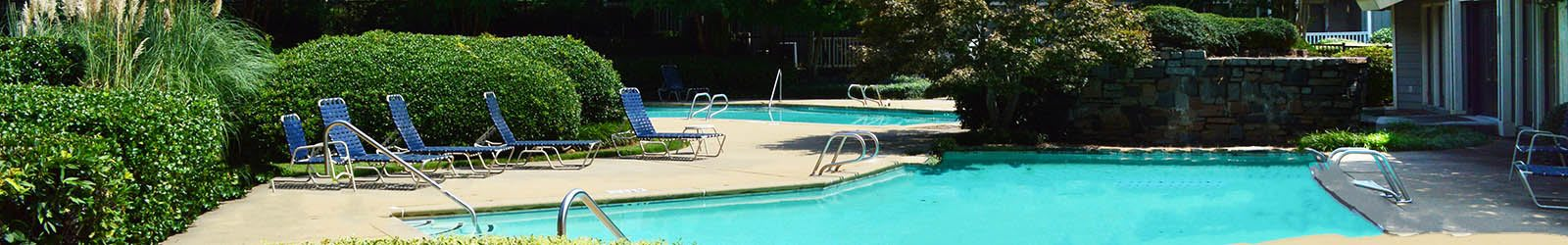 Sparkling swimming pool at our Clarkston apartments