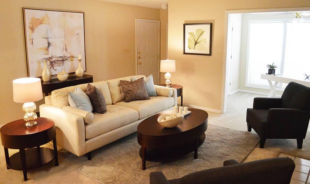 Clarkston model apartment interior living room