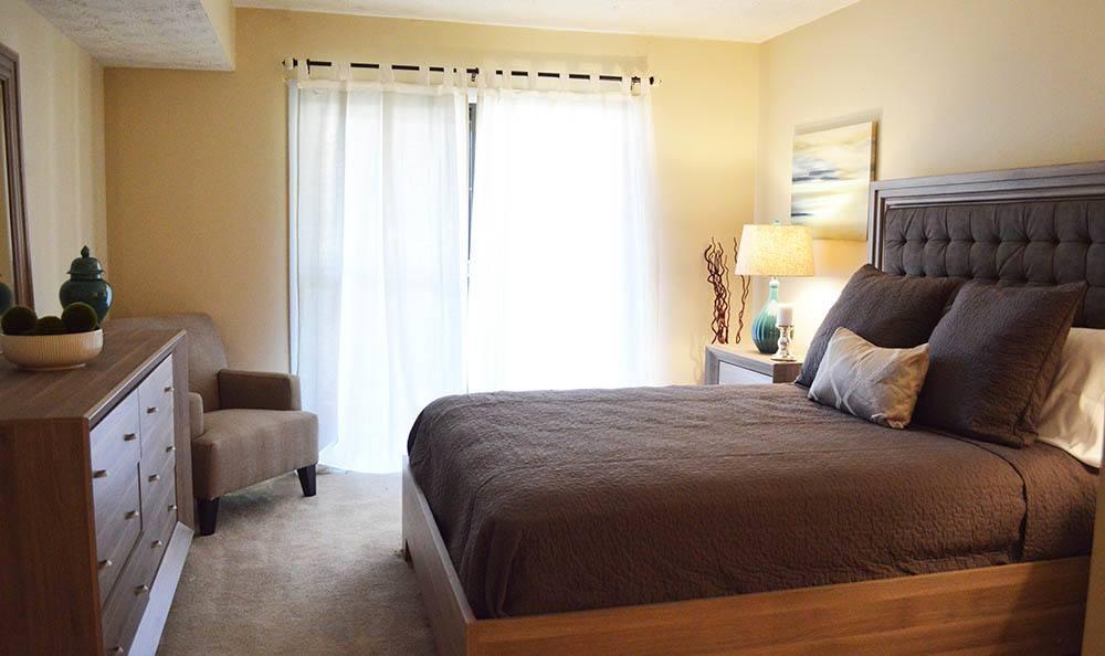 Model apartment bedroom in Clarkston