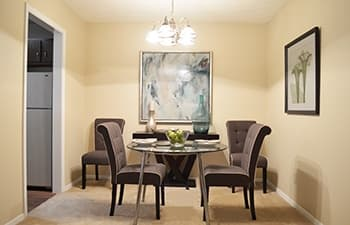 Bright and beautiful dining rooms in our Clarkston apartments