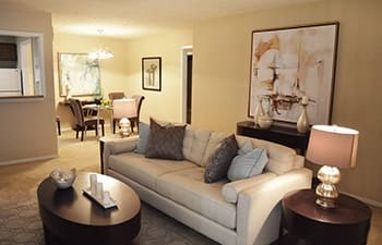 Our Clarkston apartments feature spacious living rooms for entertaining