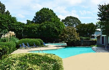 Enjoy swimming at our Clarkston apartment community's private pool