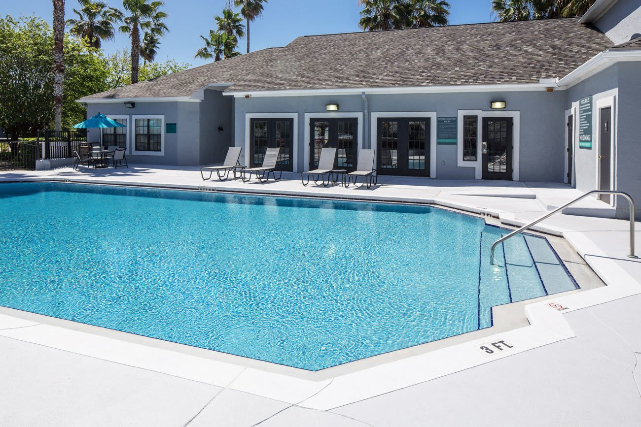 Spacious pool at apartments in Ponte Vedra Beach, Florida
