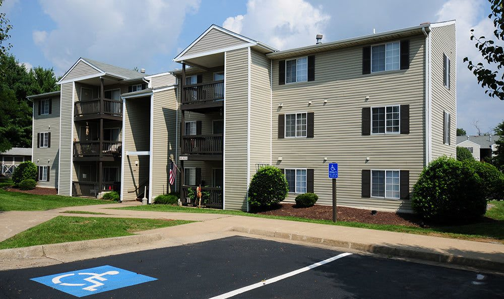 Exterior view of our Winchester VA apartments