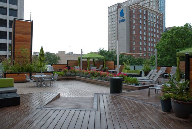 Atlanta apartments outdoor garden area