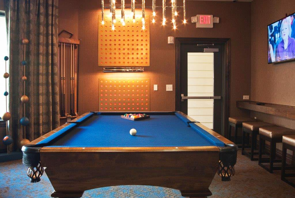 Pool table at Lakepointe at Las Colinas