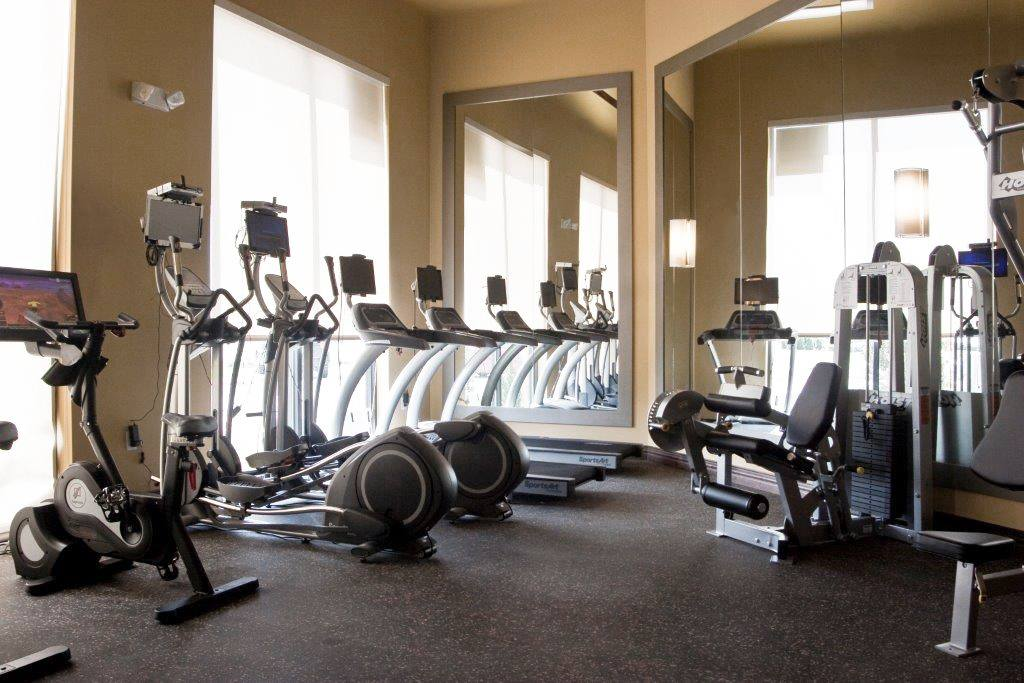 State of the art fitness center at Lakepointe at Las Colinas
