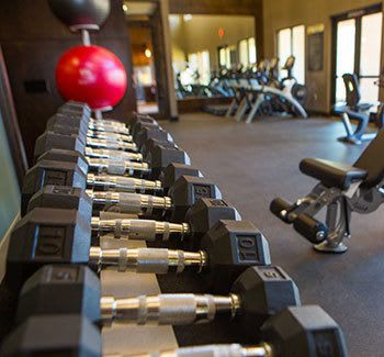 Fitness center at Gateway Crossing