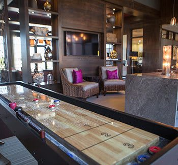 Shuffleboard at our Plano apartments
