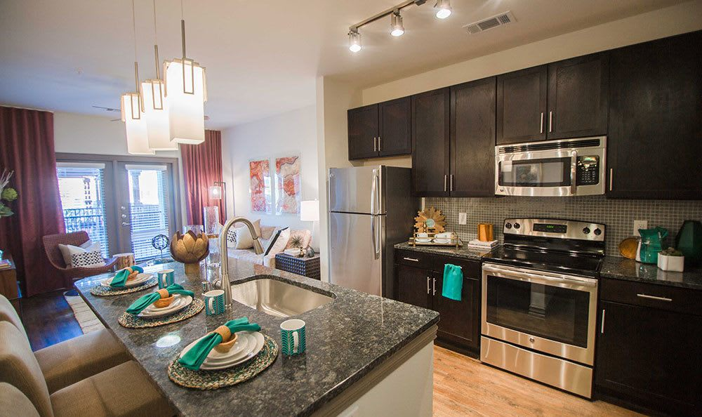 Spacious kitchens inside our Plano apartments
