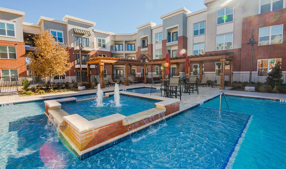 The swimming pool at our Plano, Texas, apartment homes