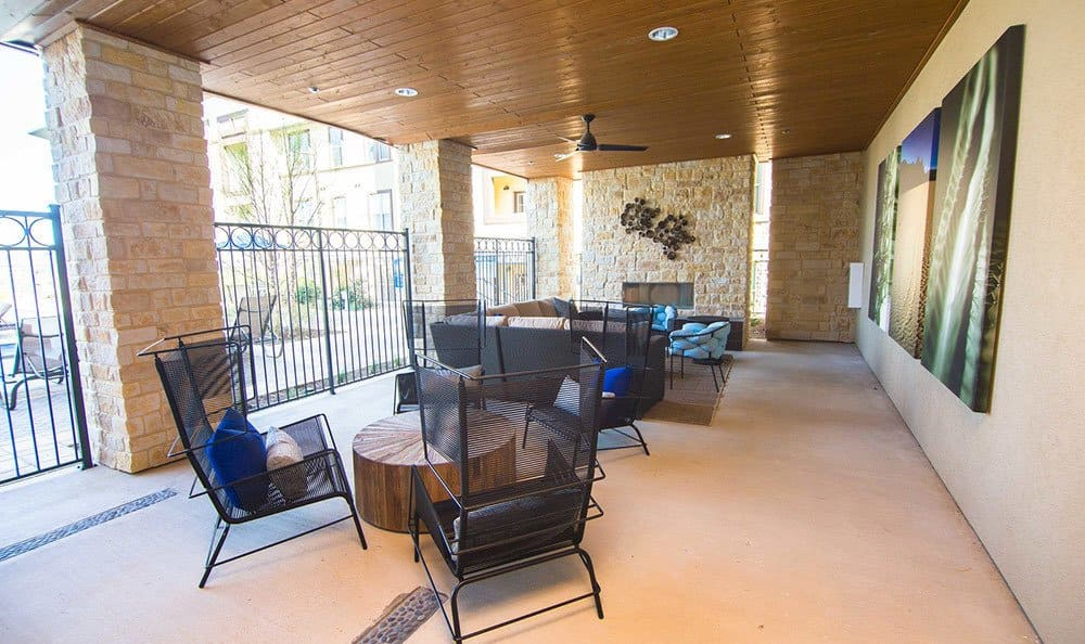 The lounge at our apartments in Allen