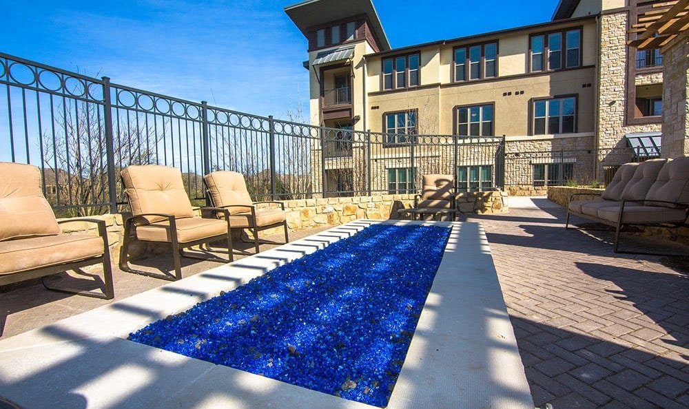 Outdoor fire pit at Twin Creeks Crossing