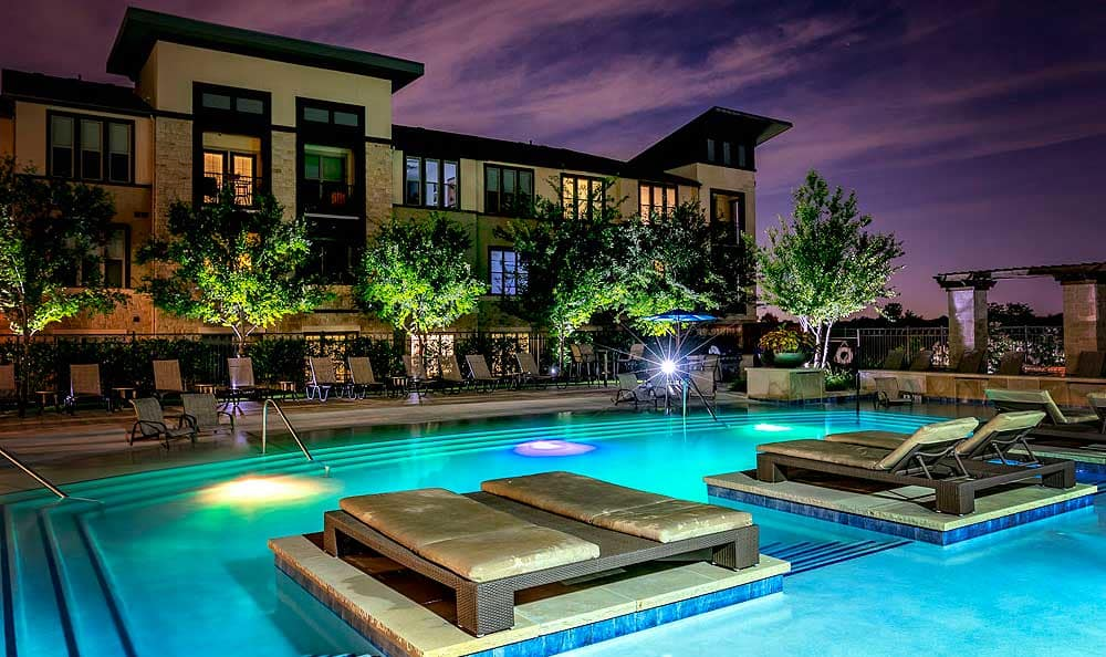 Pool at apartments in Allen