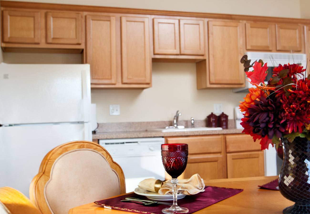 private kitchens at assisted living community in Mentor, OH
