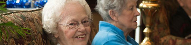 Senior living woman enjoying the amenities offered by assisted living in Tipp City Ohio.