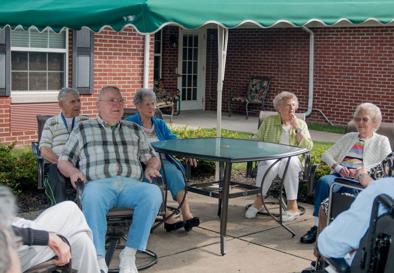 Senior living amenities in Tipp City, Ohio.
