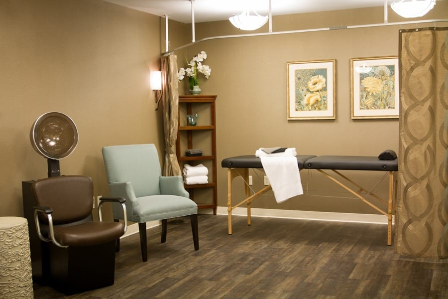spa room at our assisted living community in Mayfield Village, OH