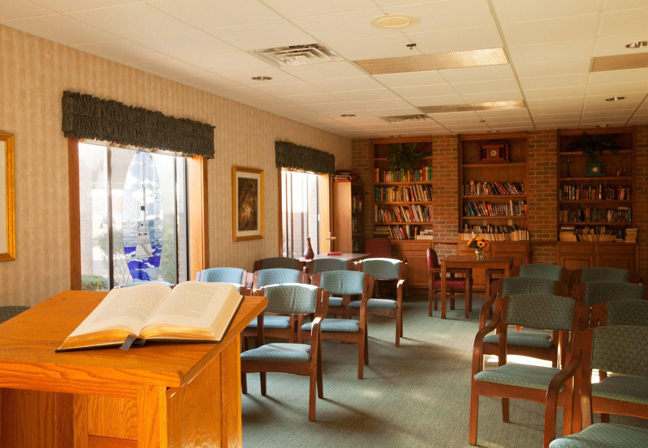 Premier chapel services at our senior living community in Conneaut