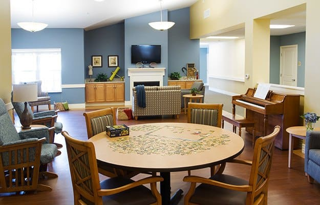 Game room is one of the many amenities offered at Randall Residence assisted living in Tipp City.