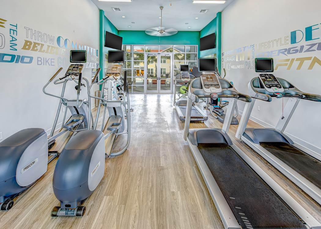 Community amenities at Longitude 81 include a private gym