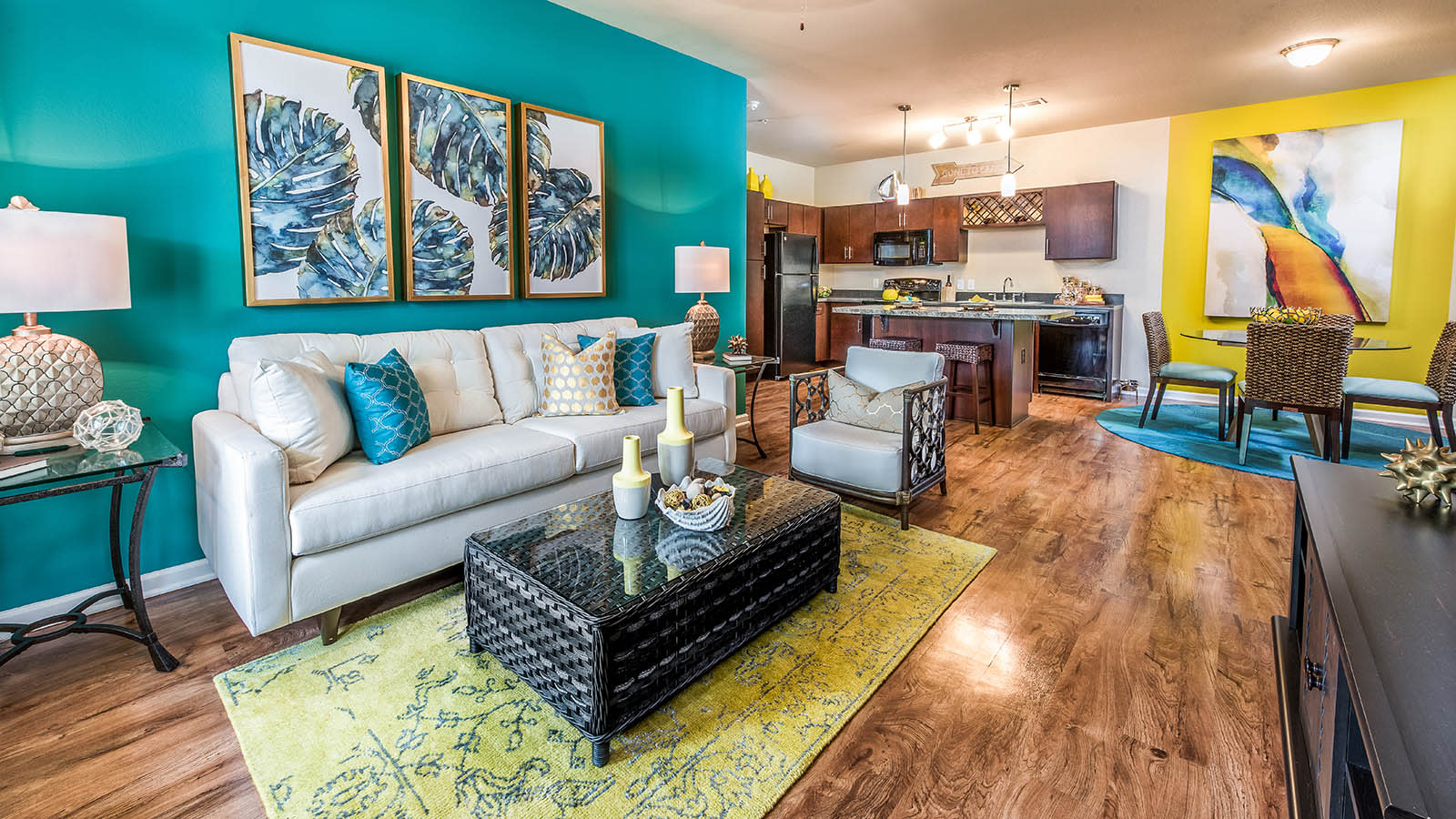 Stylish Living Room at Longitude 81 in Estero, FL