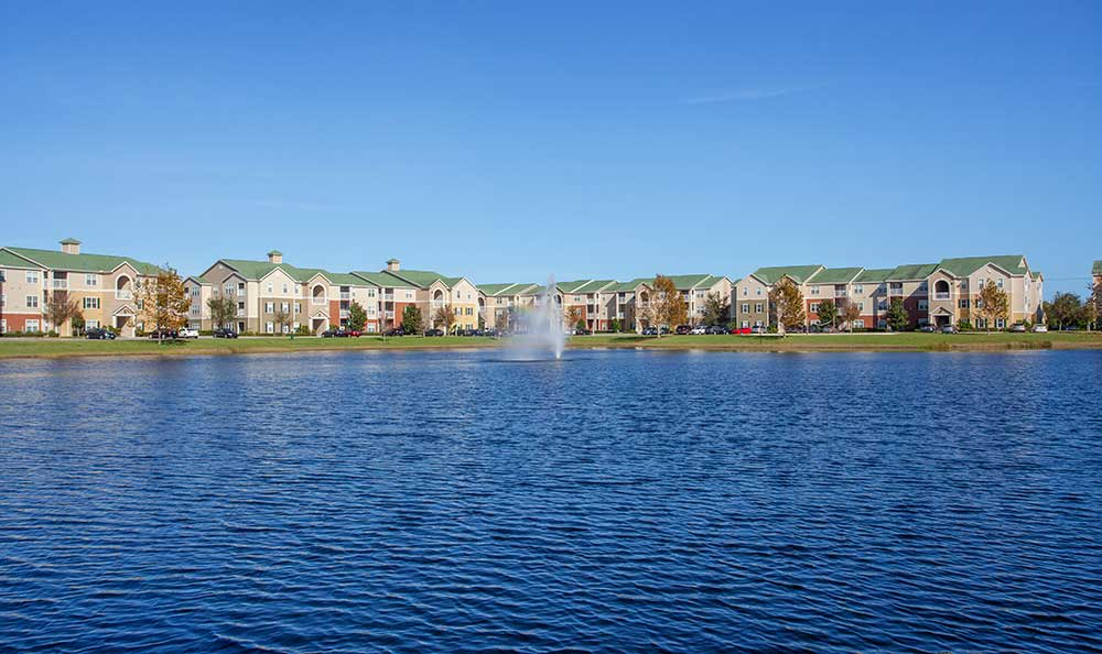 The Haven at West Melbourne has a magnificent lake and fountain!