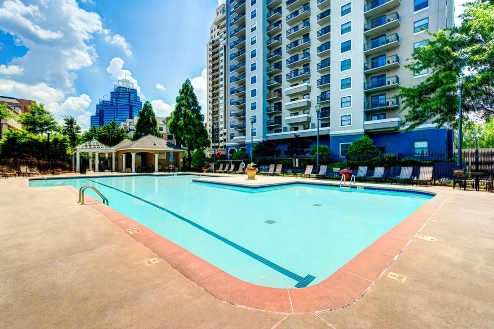 A huge pool will keep you cool in the hot Georgia heat.