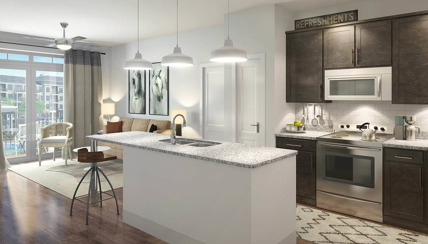 The Edge kitchen model rendering