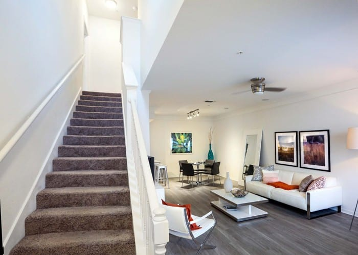 Living room of our spacious homes at Lexington Park at Westchase in Tampa