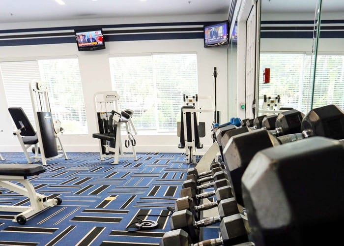 Modern fitness room at Lexington Park at Westchase