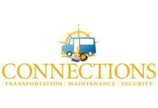 Connections transportation service logo at the senior living community in Rainbow City
