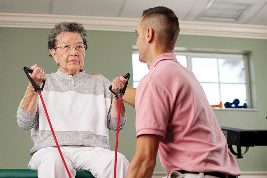 Physical therapy at the senior living in Rainbow City