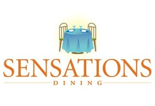 Sensations dining logo for the senior living community in Rainbow City