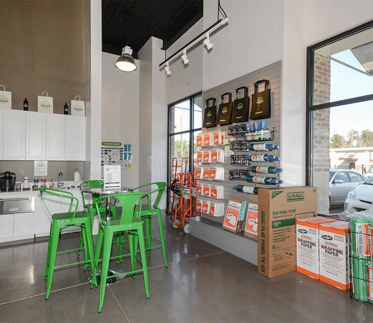 Storage features at Space Shop Self Storage in Goose Creek