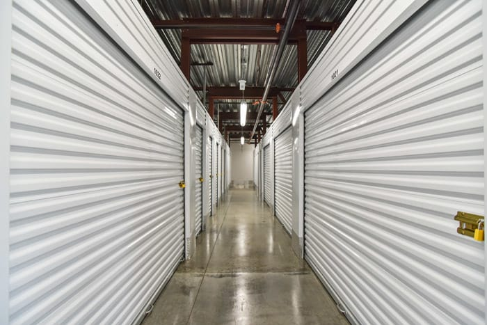 Interior hallway at Space Shop Self Storage
