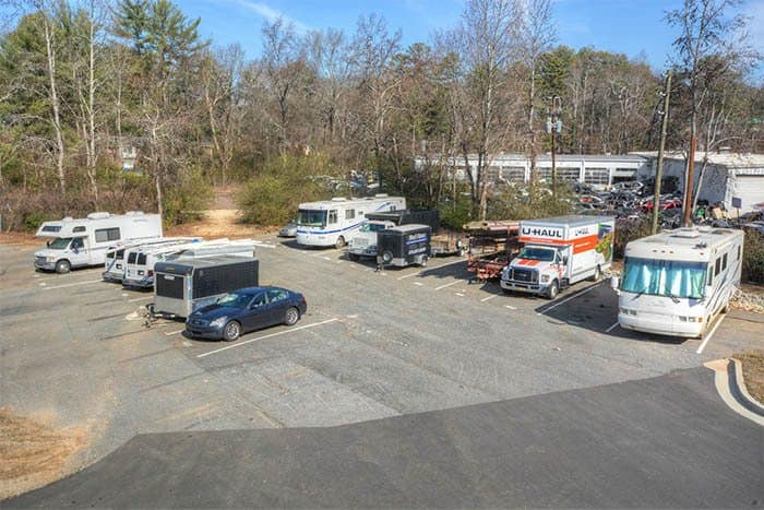 Rv And Car Parking At Space Shop Self Storage