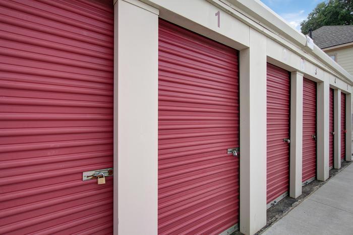 External Red Storage at Space Shop Self Storage in Acworth