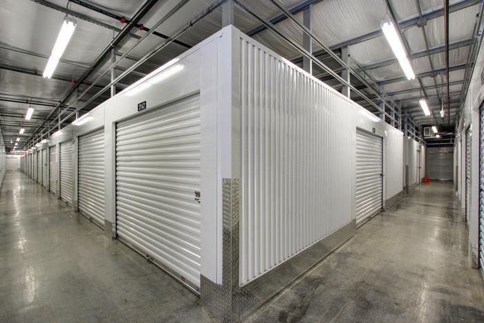Internal Storage Corner at Space Shop Self Storage in Acworth
