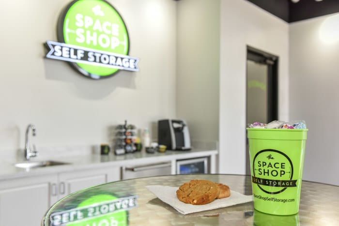 Cookies and coffee at Space Shop Self Storage
