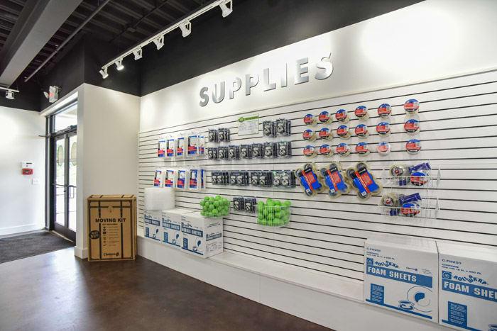 Storage supplies at Space Shop Self Storage