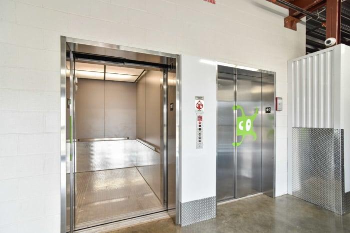 Space Shop Self Storage elevators in Kennesaw