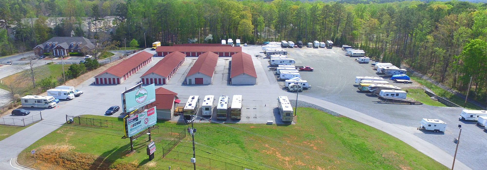 Aerial Shot Of Space Shop Self Storage In Hiram
