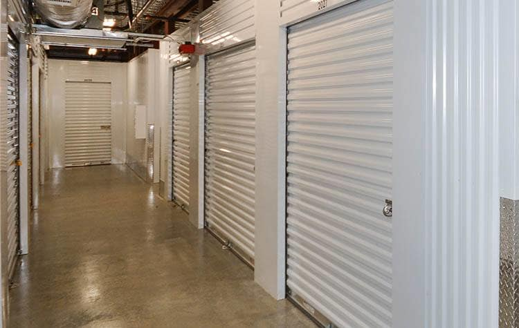 Climate controlled storage at Space Shop Self Storage in Cary, North Carolina